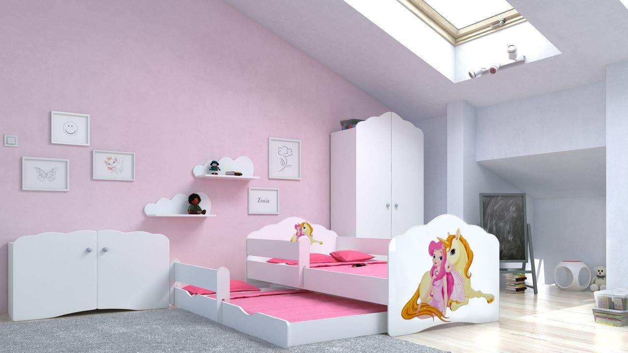Angelbeds 'Fala' Kinderbett 80x160 cm, Motiv 5, inkl. Flex-Lattenrost, Schaummatratze und Schubbett Bild 1