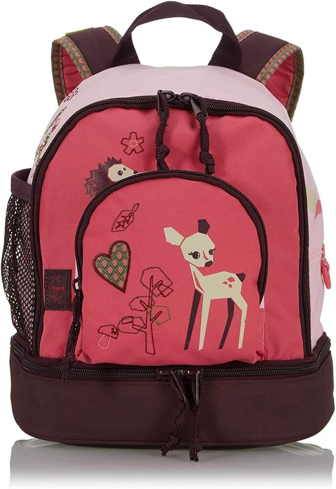 LÄSSIG Kinder Mini Rucksack mit Brustgurt, 4,5L , Rosa (Little Tree Fawn) Bild 1