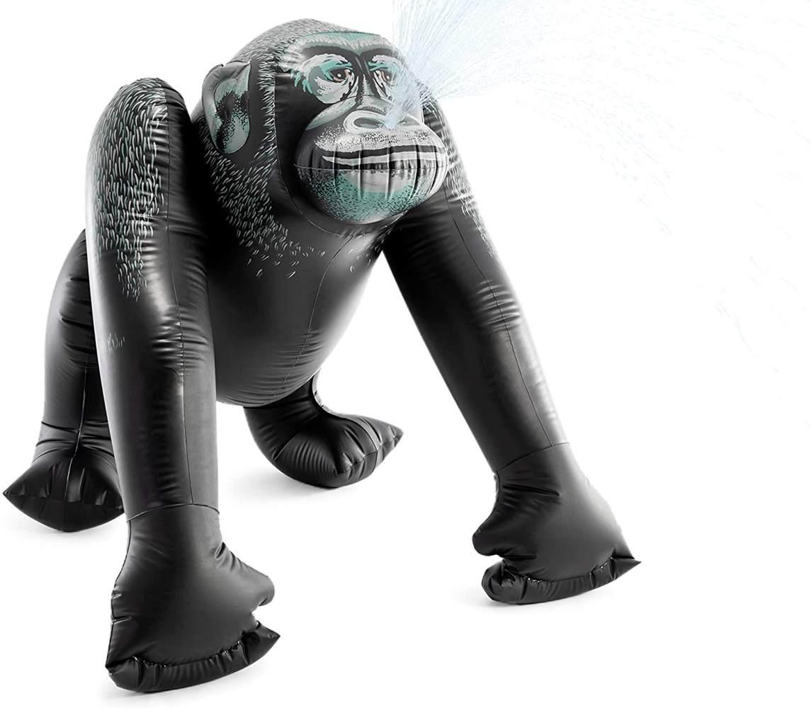 Aufblasbarer Gorilla XXL 185 x 170 cm pvc schwarz Bild 1