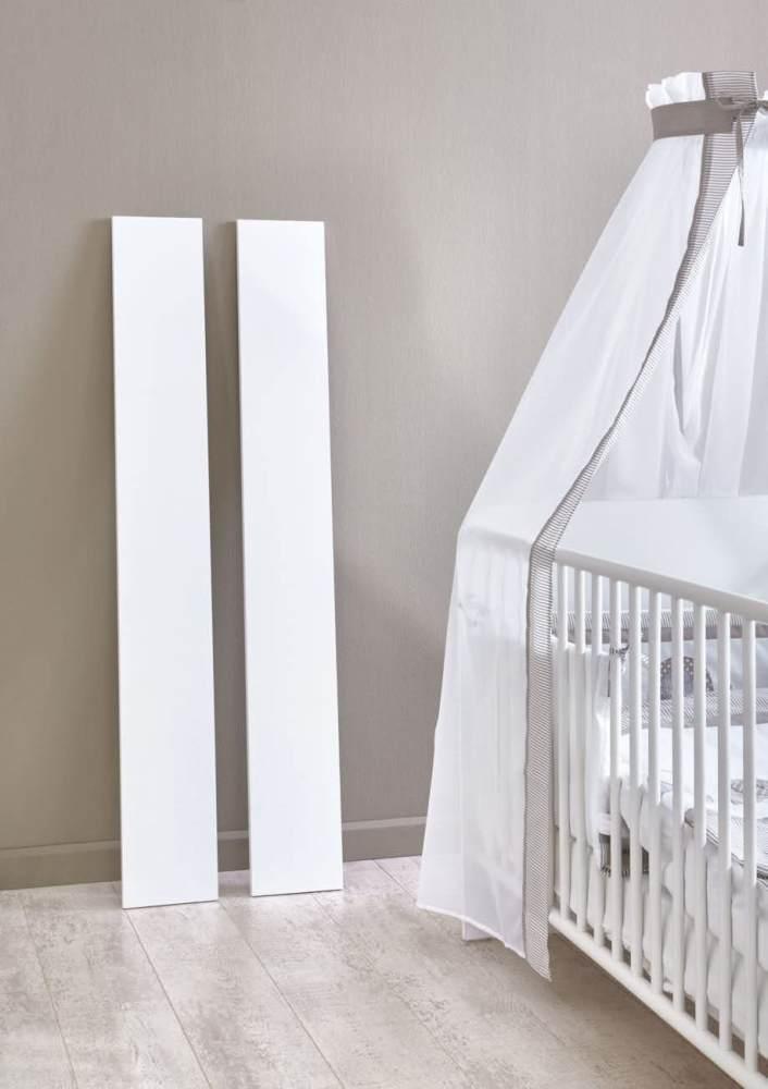 2 Umbauseiten für das Babybett 'KIM' weiß Bild 1