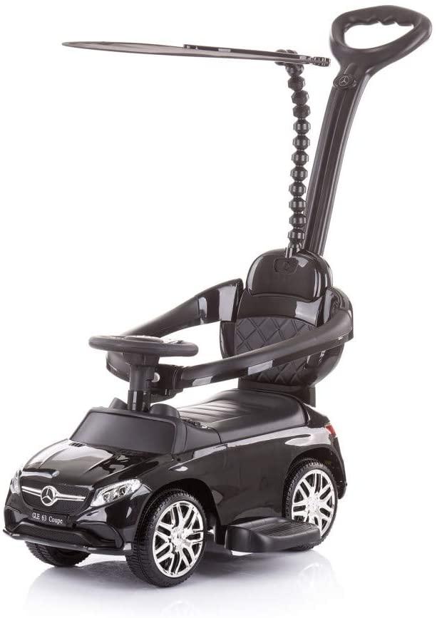 Chipolino Rutscher 3 in 1 Mercedes GLE63 Schubstange Musik Hupe Flaschenhalter, Farbe:schwarz Bild 1