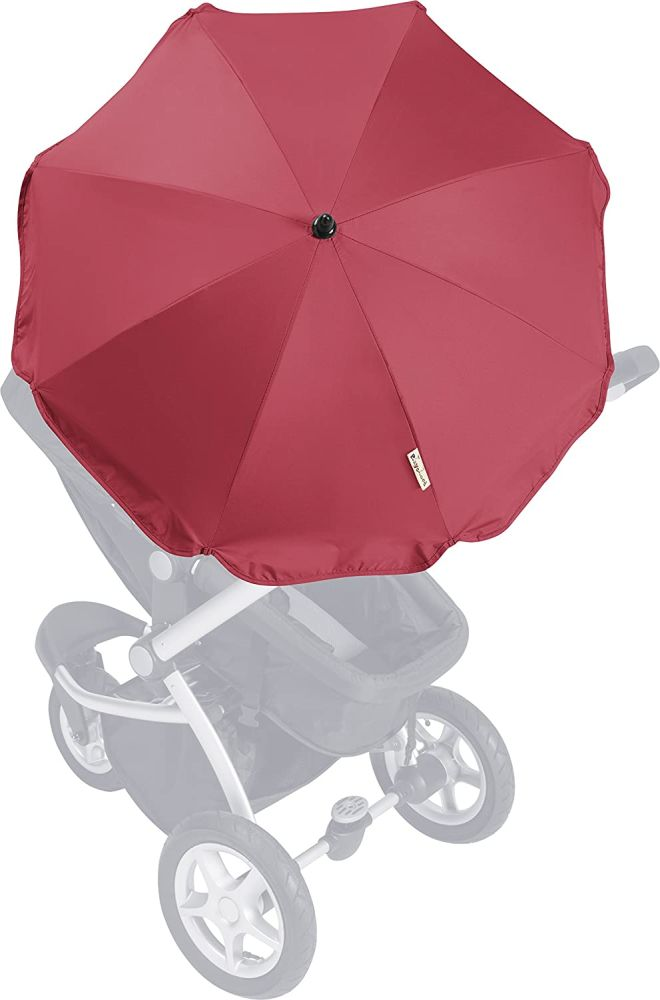 Playshoes Kinder UV Sonnenschirm für Kinderwagen, rot, One Size Bild 1