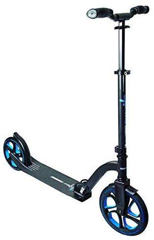 Muuwmi Unisex Jugend Aluminium Scooter Pro 250 mm, schwarz/blau, One Size Bild 1