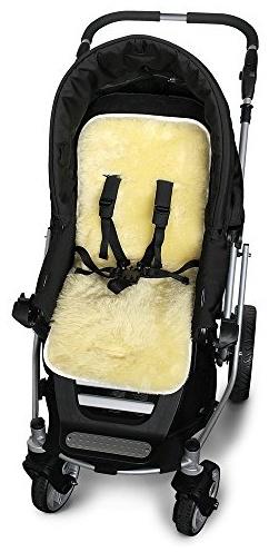 Odenwälder - Lammfellauflage für Kinderwagen, weiß Bild 1