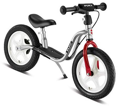 PUKY 4042 'LR 1L BR' Laufrad, für Kinder ab 90 cm Körpergröße, bis 25kg belastbar, höhenverstellbar, inkl. Bremse, silber-rot Bild 1