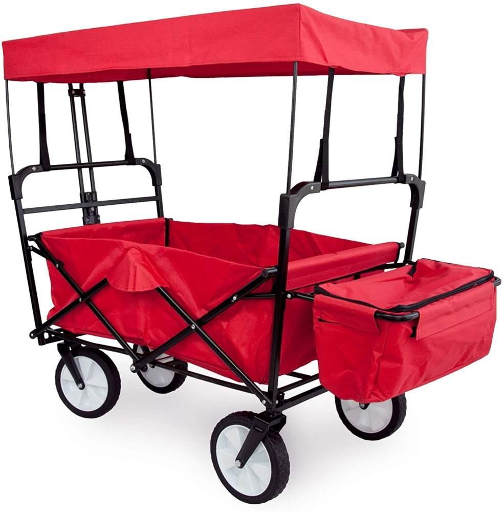 Grafner® Bollerwagen schwarz/rot mit Dach Bild 1
