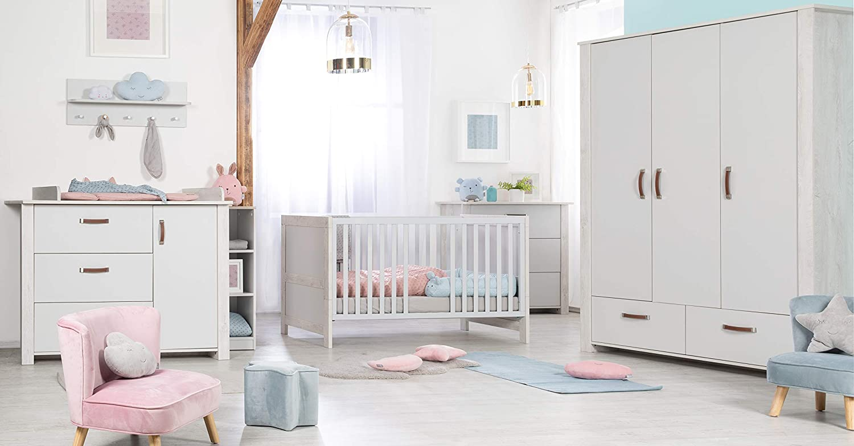 Roba 'Mila' 3-tlg. Kinderzimmerset grau weiß Bild 1