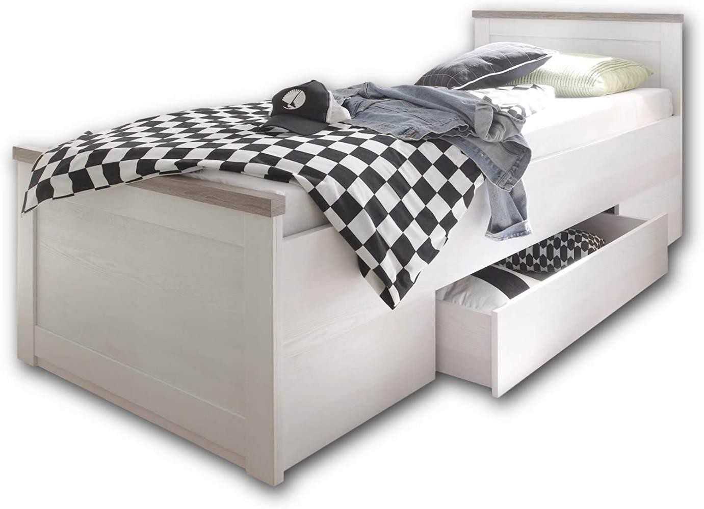 Bega 'Luca' Einzelbett weiß/trüffel mit Schublade Bild 1