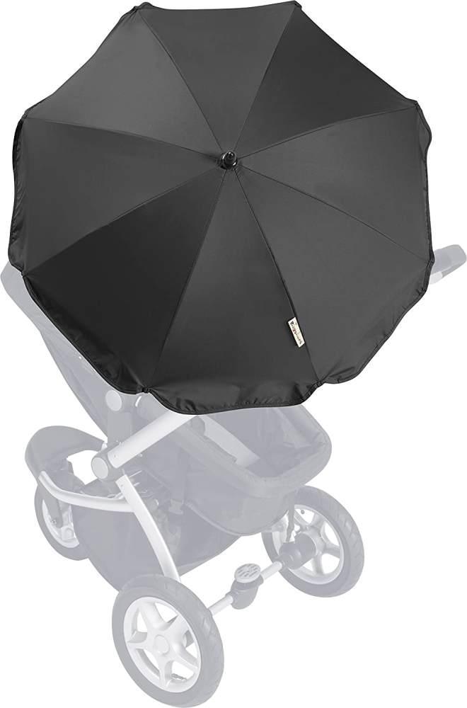 Playshoes Kinder UV Sonnenschirm für Kinderwagen, schwarz, One Size Bild 1
