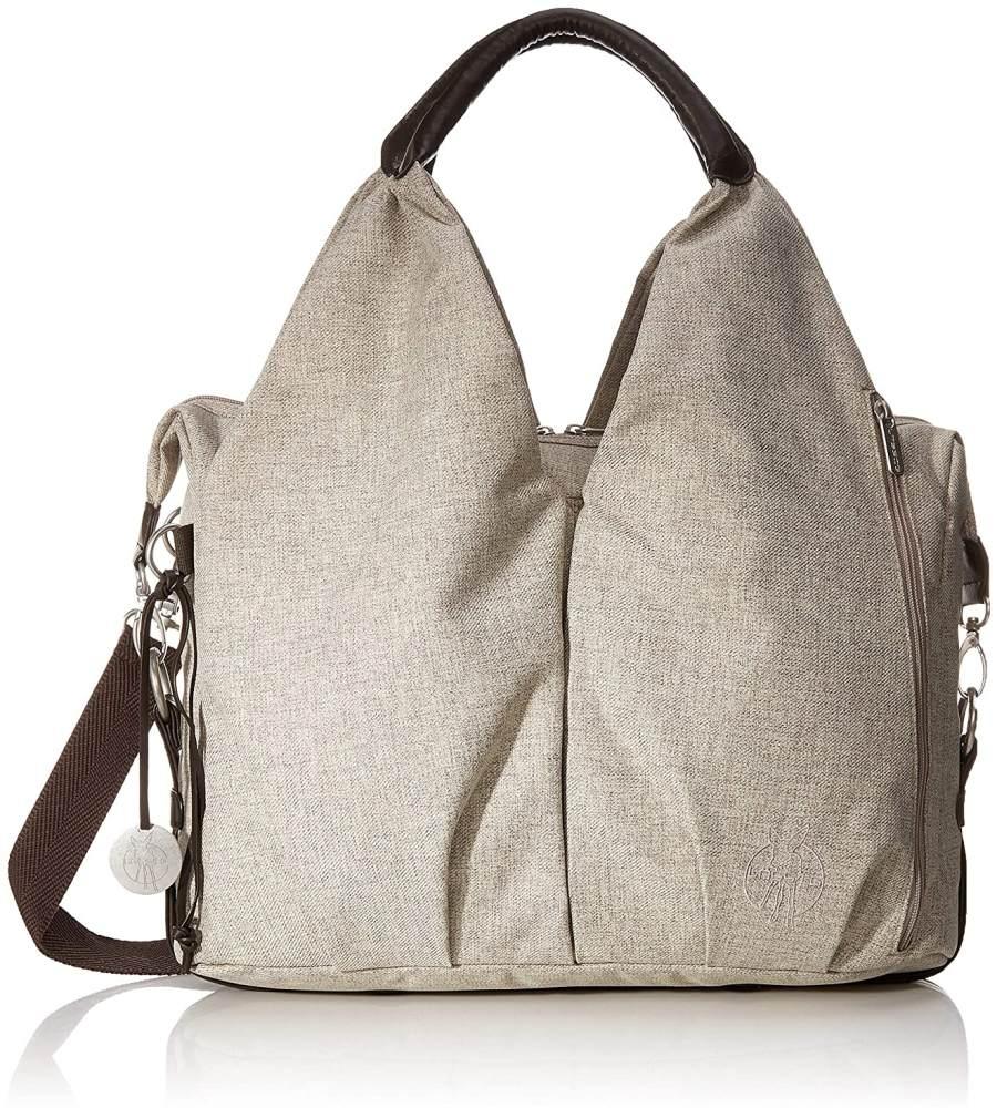 LÄSSIG Baby Wickeltasche nachhaltig inkl. Wickelzubehör nachhaltig produziert/Green Label Neckline Bag, beige/braun Bild 1