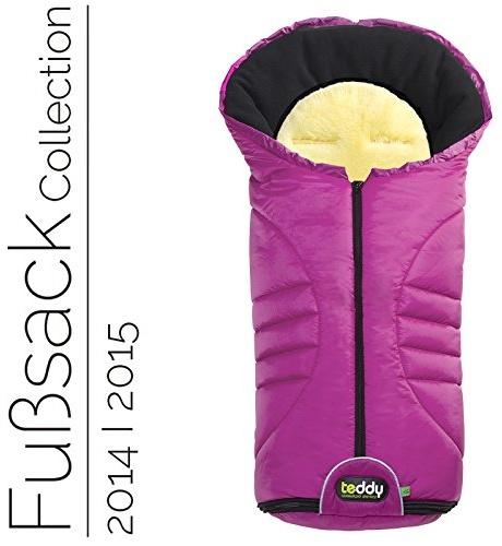Odenwälder 12330-325 Fusssack mit Lammfell Teddy one2 Plus fuchsia Modell 2013/2014, universell einsetzbar Bild 1