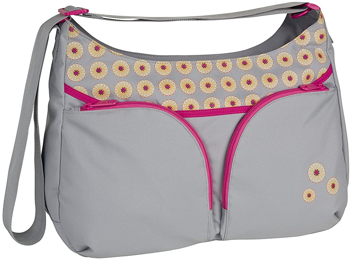 Lässig Basic Shoulder Bag Wickeltasche/Babytasche inkl. Wickelzubehör, grau Bild 1