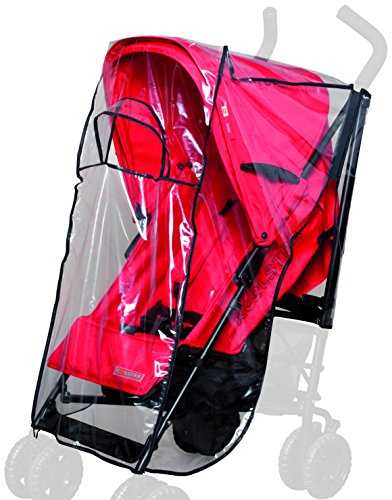 sunnybaby 13197 - Universal Regenverdeck, Regenschutz, Regenhaube für Buggy mit Dach | mit Kontaktfenster für optimale Luftzirkulation | Qualität: MADE in GERMANY Bild 1