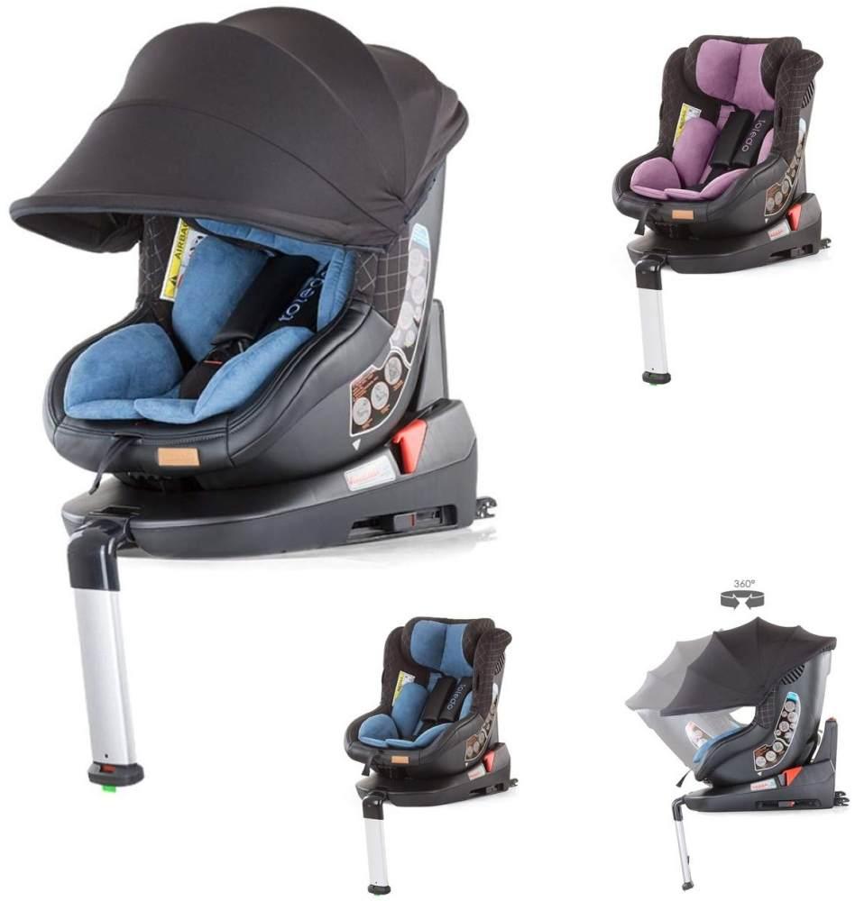 Chipolino Kindersitz Toledo Gruppe 0+/1 (0-18 kg) Isofix Sitz drehbar Sonnendach, Farbe:blau Bild 1