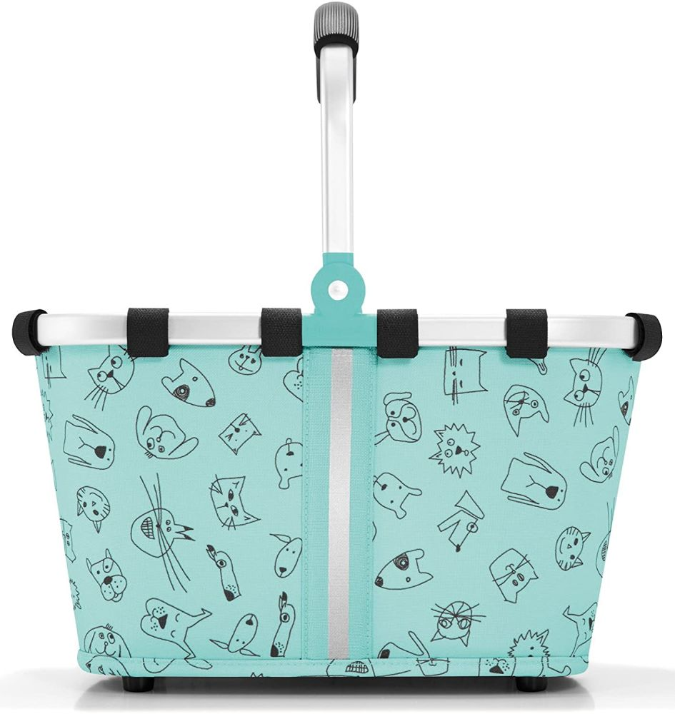reisenthel carrybag XS kids Einkaufskorb 33,5 x 18 x 19,5 cm / 5 l / cats and dogs mint Bild 1