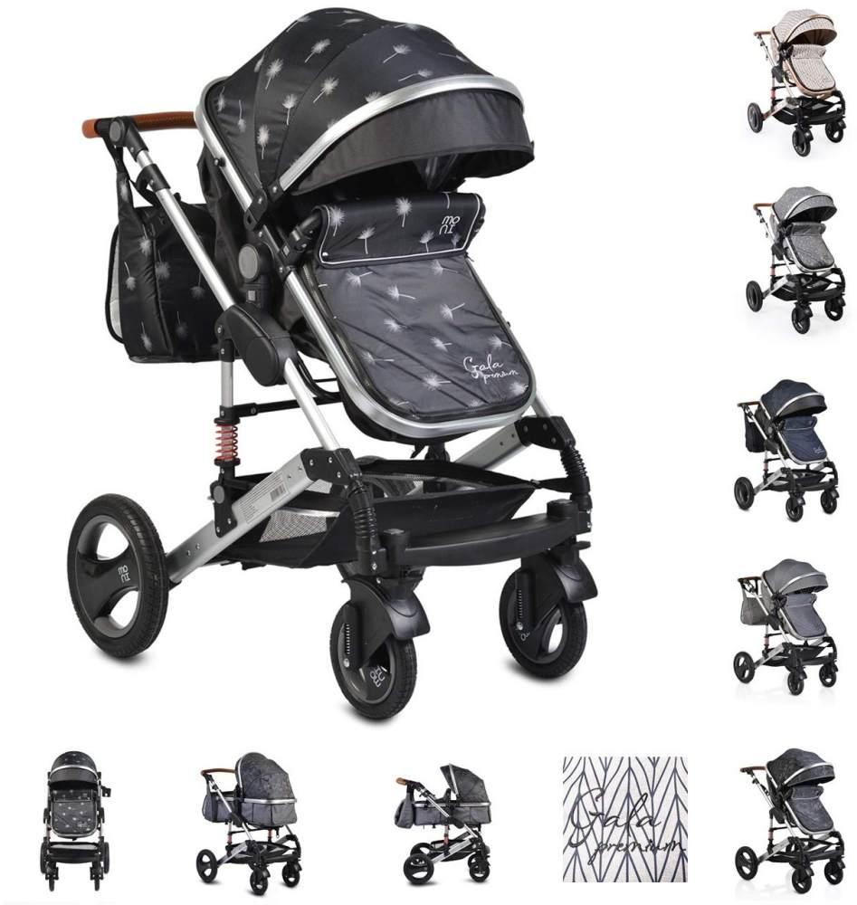 Moni Kinderwagen Gala Premium Tragetasche Sportsitz Wickeltasche Sitz umkehrbar schwarz Bild 1