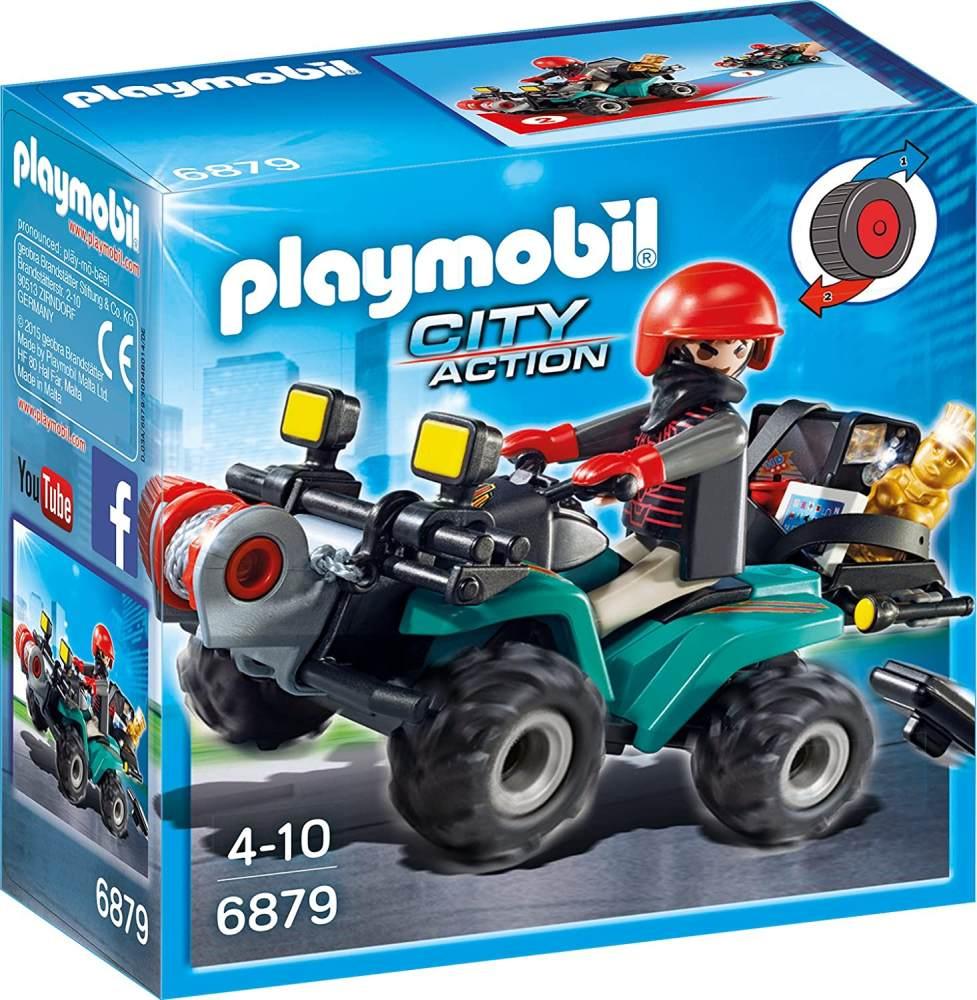 Playmobil 6879 - Ganoven-Quad mit Seilwinde Bild 1