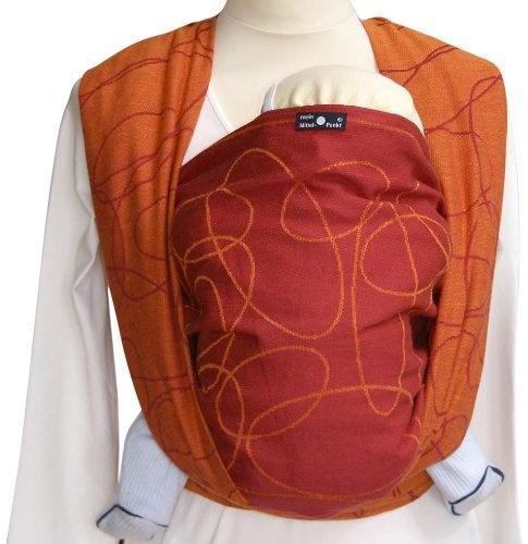 Didymos 461002 Babytragetuch, Modell Ellipsen rubin-mandarine, Größe 2 Bild 1