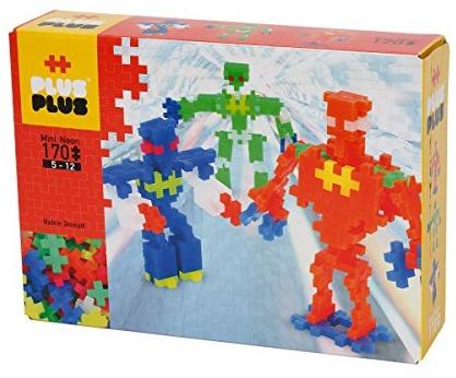 Plus-Plus 52148 - Steckspiele - Mini Neon 170 - Robots Bild 1