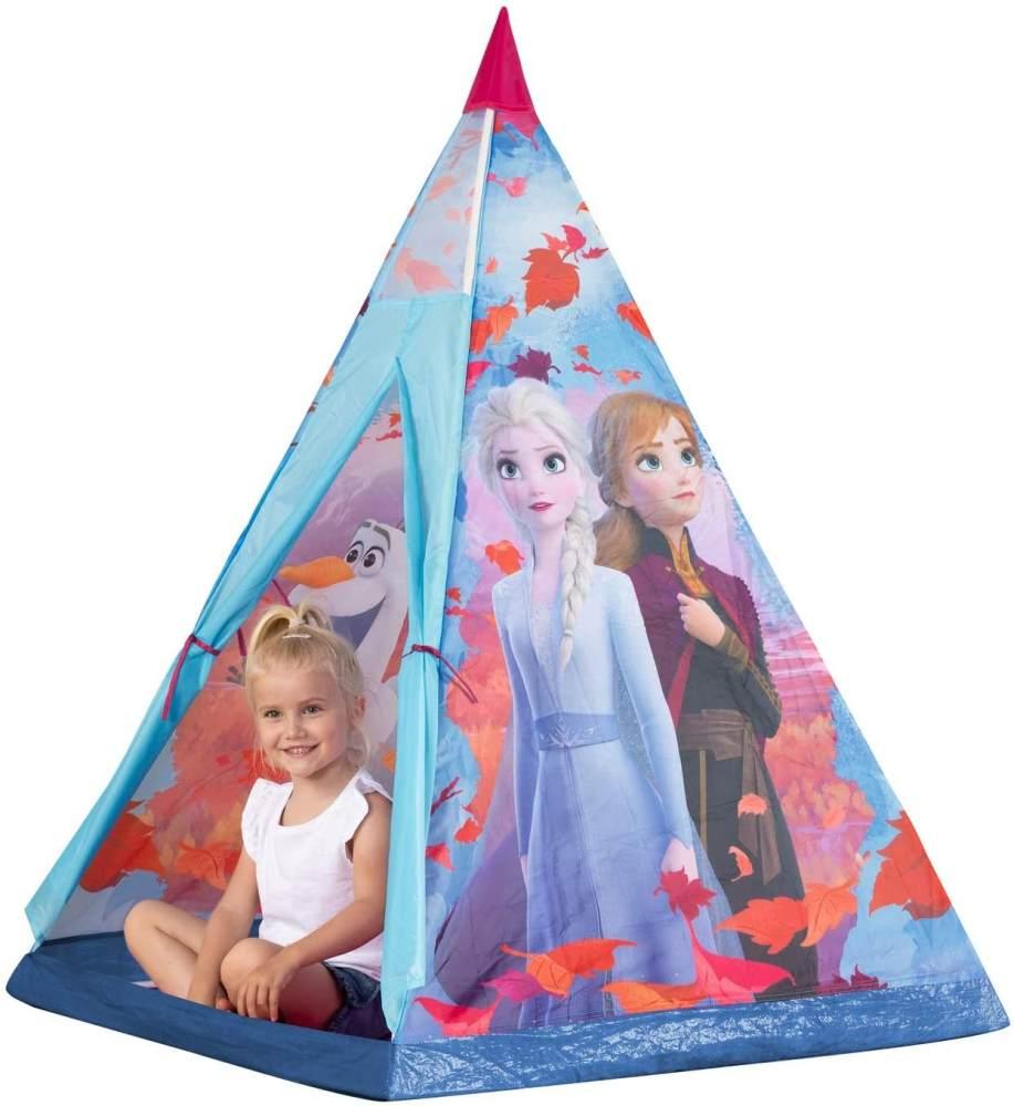 John 75107A Kunststoffstangen Disney Eiskönigin Tipi Spielzelt, Kinderzelt, Spielhaus mit Frozen 2 Motiv, lila Bild 1