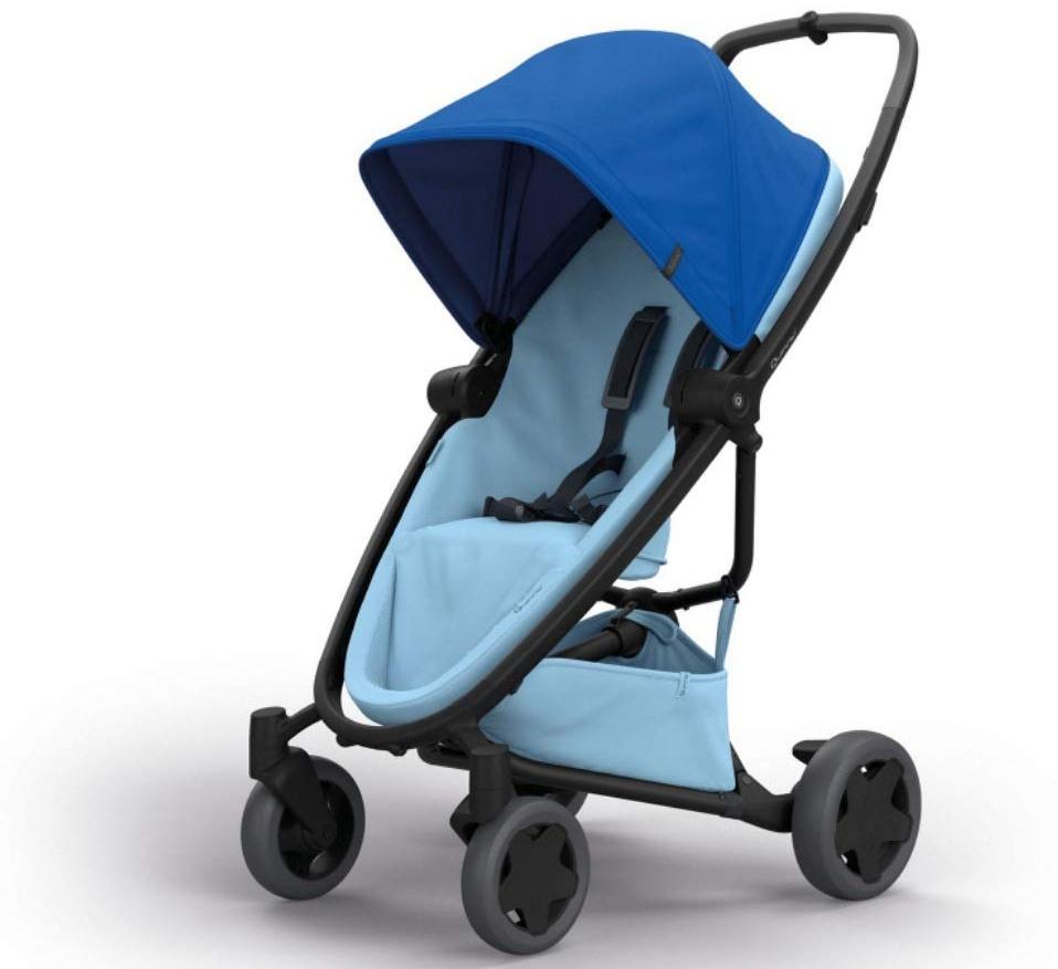 Quinny Zapp Flex Plus Vier Räder Buggy, stylischer Kinderwagen mit viel Komfort und Flexibilität, leicht und extrem kompakt zusammenfaltbar, nutzbar ab der Geburt (z.B. mit Lux Babywanne), blue on sky Bild 1