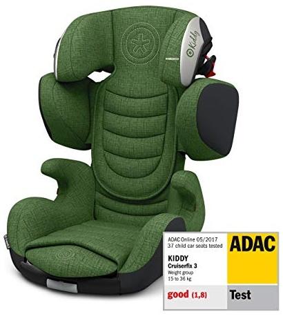 Kiddy Cruiserfix 3 | Autokindersitz (Gruppe 2/3) (ca. 3 Jahre bis 12 Jahre) (ca. 15kg - 36kg) mit Isofix | Melange Kollektion | Cactus Green Melange Bild 1
