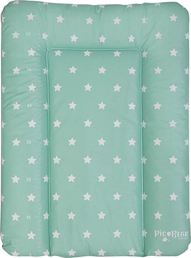 Wickelauflage HONEY | weiche Wickelunterlage | Öko-Tex 100 | abwaschbar und pflegeleicht (50 x 70 cm, Sterne celadon) Bild 1