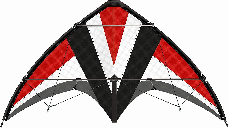 Paul Günther 1031 - Sportlenkdrachen Whisper 125 GX, Drachen für Anfänger, Segel aus reißfestem Ripstop-Polyester, robuste Fiberglasstäbe, mit Lenkspulen und Schnur, ca. 125 x 54 cm groß Bild 1
