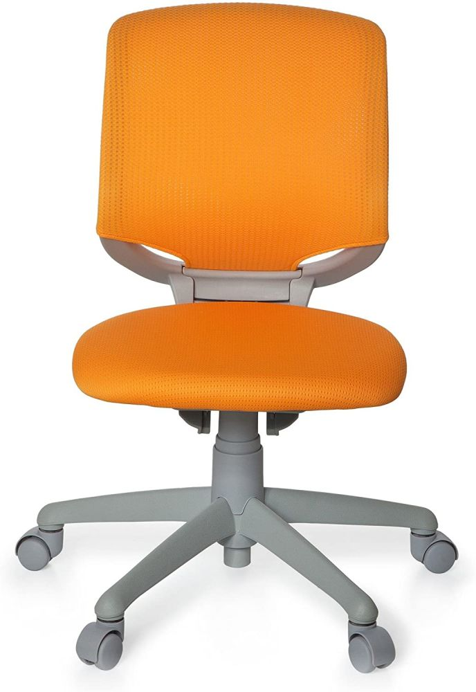 hjh OFFICE 712050 Kinder-Schreibtischstuhl Kid Move Grey Netzstoff Orange/Grau Drehstuhl ergonomisch, Rückenlehne verstellbar Bild 1