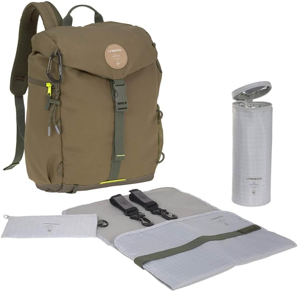 Lässig Wickelrucksack - Outdoor Backpack (4 Farben) Olive Bild 1