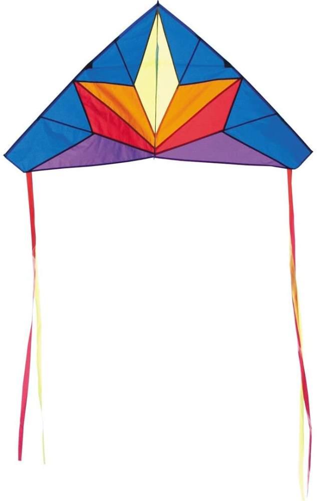 HQ 100075 - Delta Stern Kinderdrachen Einleiner, ab 5 Jahren, 68x134cm, inkl. 17kp Polyesterschnur 40m auf Spule, 2-5 Beaufort Bild 1
