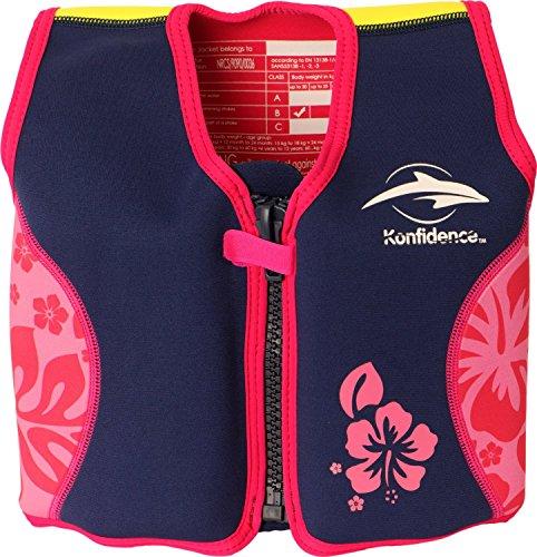 Konfidence Schwimmweste, Design: Pink/hibiscus, Größe: 12-16 kg Bild 1