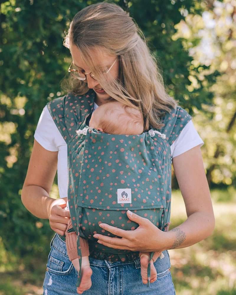 LIMAS Babytrage Halfbuckle   50 -86 cm   Bauchtrage & Rückentrage & Hüfttrage   ab Geburt bis Kleinkindalter   Baby Carrier   Hope Bild 1