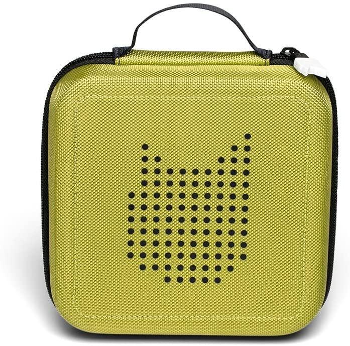 Tonies 'Tonie-Transporter' Transporttasche Grün, Box zur Aufbewahrung von bis zu 20 Tonies Hörfiguren, leicht, abwaschbar, Reißverschluss, 17,5 x 17,5 cm Bild 1