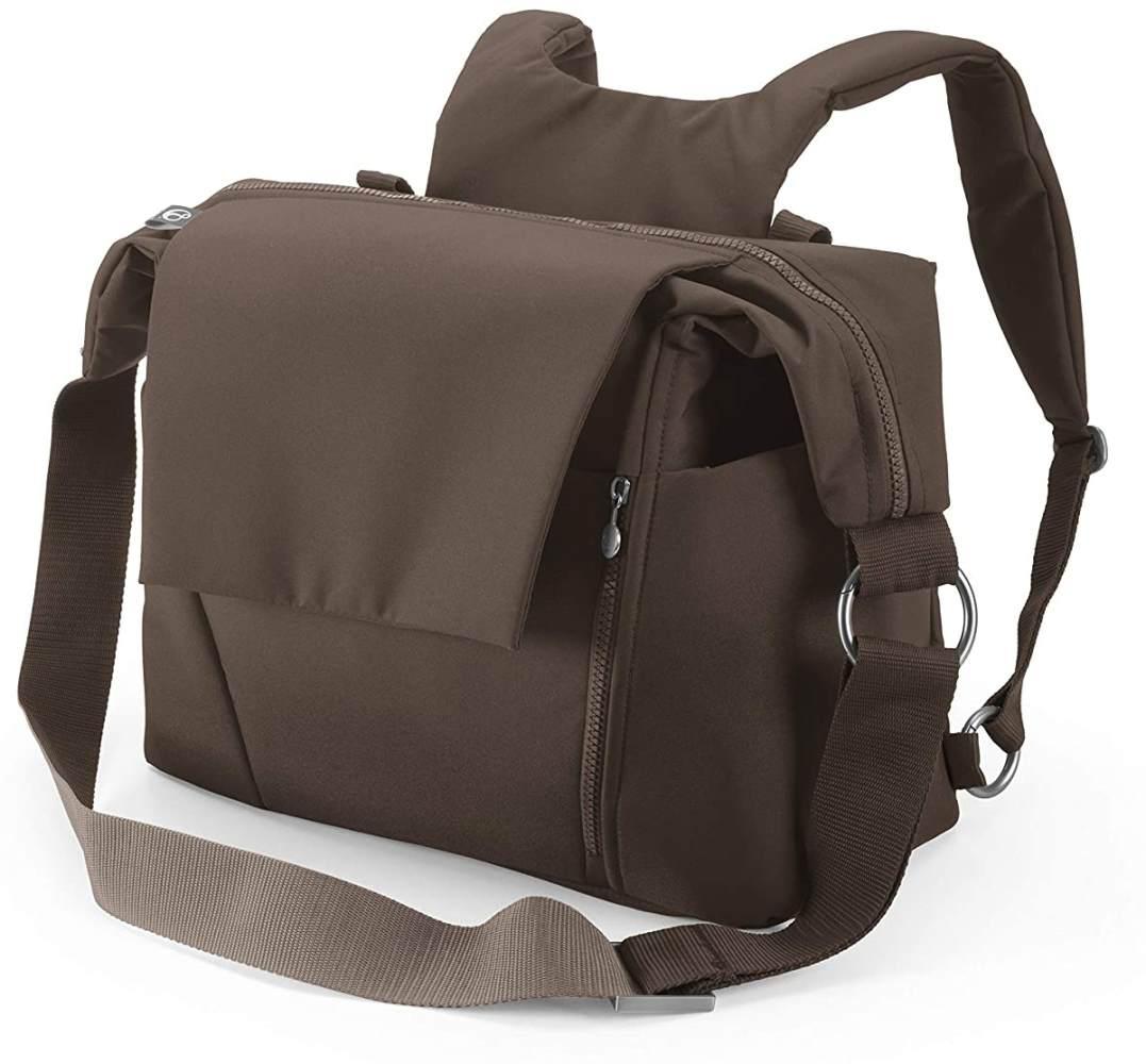 STOKKE® Wickeltasche - Windeltasche mit faltbarer Wickelunterlage - Farbe: Brown Bild 1