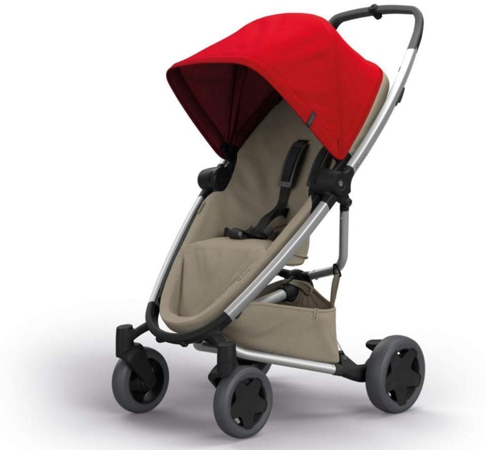 Quinny Zapp Flex Plus Vier Räder Buggy, stylischer Kinderwagen mit viel Komfort und Flexibilität, leicht und extrem kompakt zusammenfaltbar, nutzbar ab der Geburt (z.B. mit Lux Babywanne), red on sand Bild 1