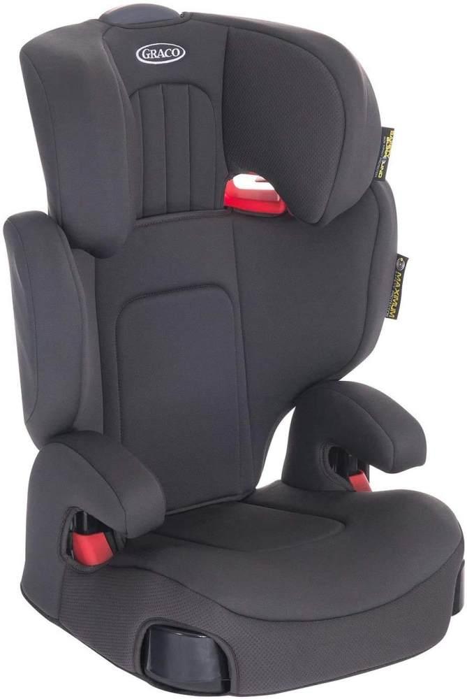 Graco Assure Kindersitz Gruppe 2/3, 15-36 kg, 4 bis 12 Jahre, Kopfstütze verstellbar, inkl. Seitenaufprallschutz, Getränkehalter, Midnight Grey Bild 1