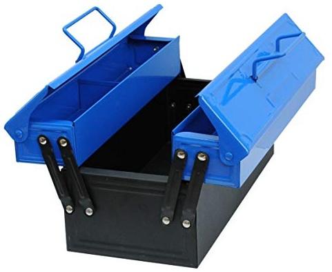 Corvus A 600 029 - Kids at Work Metall-Werkzeugkasten, blau Bild 1