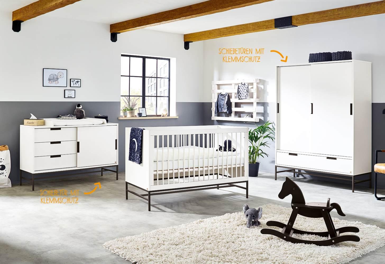 Pinolino 'Steel' 3-tlg. Babyzimmer-Set extrabreit groß Bild 1