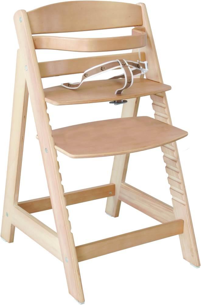 Roba 'Sit Up III' Treppenhochstuhl, natur, höhenverstellbar, mit Sicherheitsbügel und Gurtsystem, bis 50 kg belastbar Bild 1