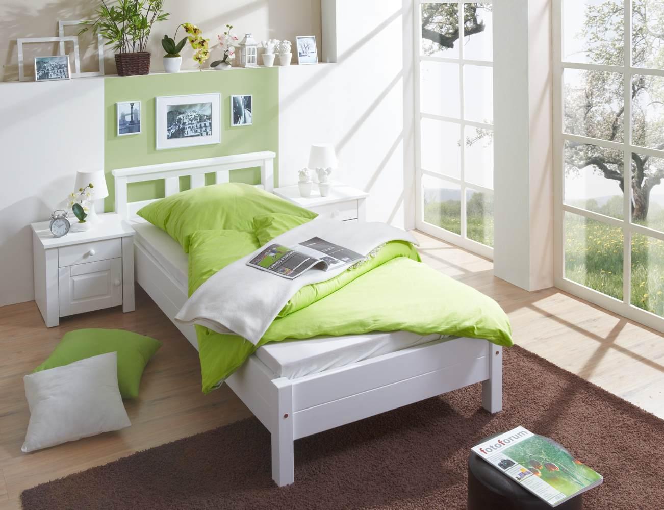 Ticaa 'Merci' Einzelbett 100x200 weiß Bild 1
