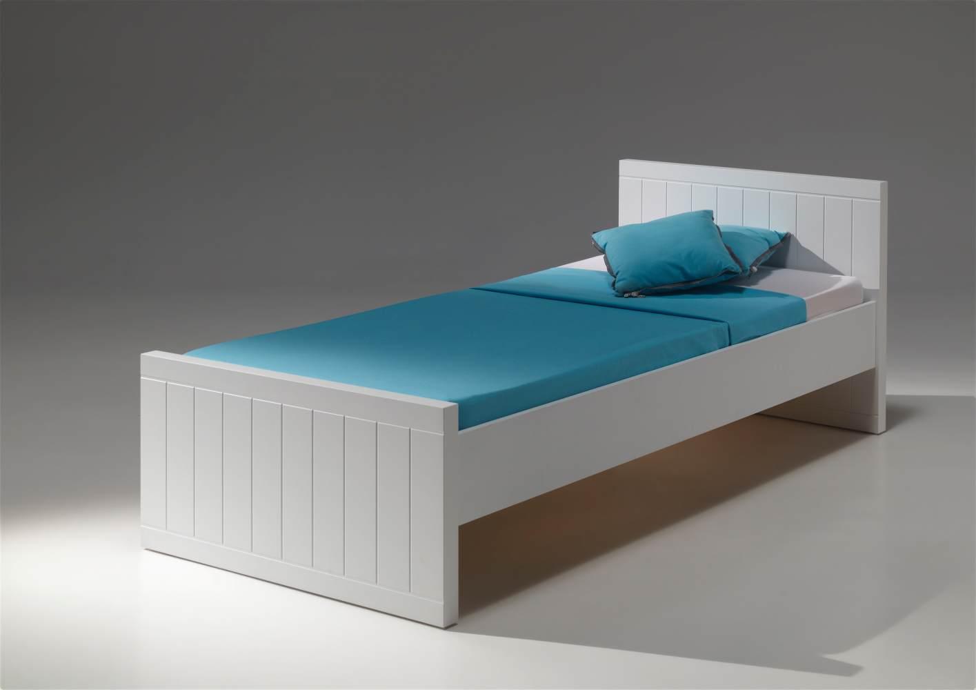 Vipack 'Robin' Einzelbett weiß, 90x200 cm Bild 1