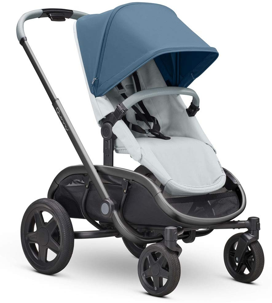 Quinny Hubb Mono XXL Shopping-Kinderwagen, großer Einkaufskorb, einfach klappbarer Kinderwagen, nutzbar ab ca. 6 Monate bis ca. 3,5 Jahre, Blue on Coral Bild 1