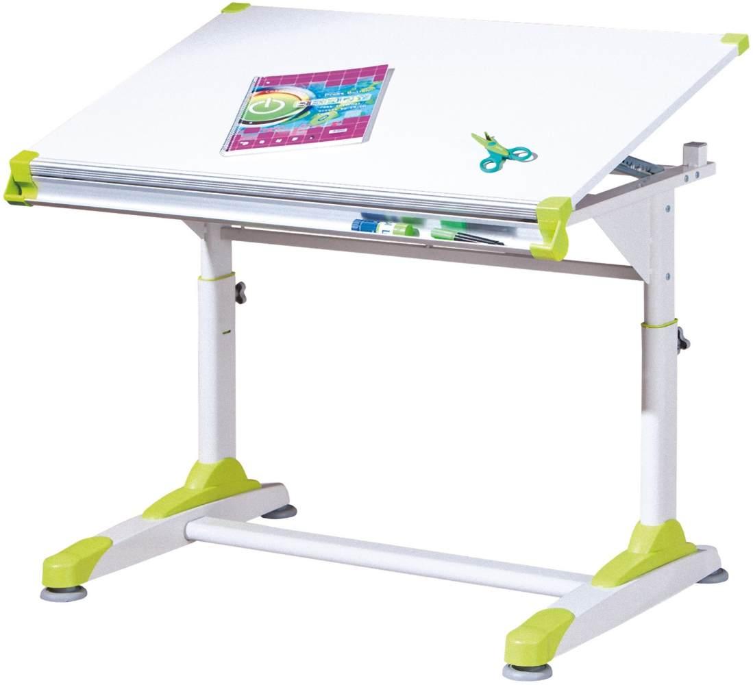PKline Schreibtisch weiß/grün Bild 1
