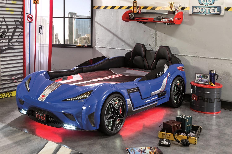 Cilek 'GTS' Autobett blau, mit LED-Beleuchtung und Sound Bild 1