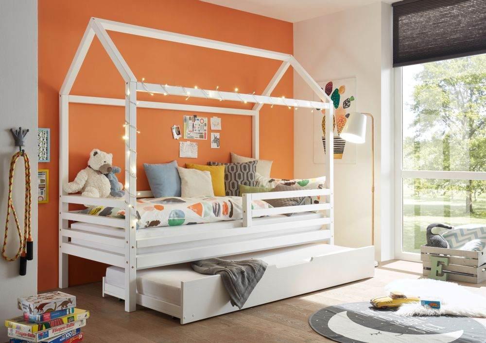 Bega 'Karlson' Hausbett 90x200 cm, weiß mit Bettliege Bild 1