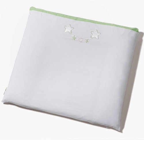 Easy Baby 'Stars' Wickelauflage mit Stoffbezug weiß/grün Bild 1