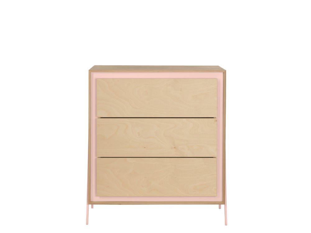 In2wood Kommode mit 3 Schubladen Square Pink Bild 1