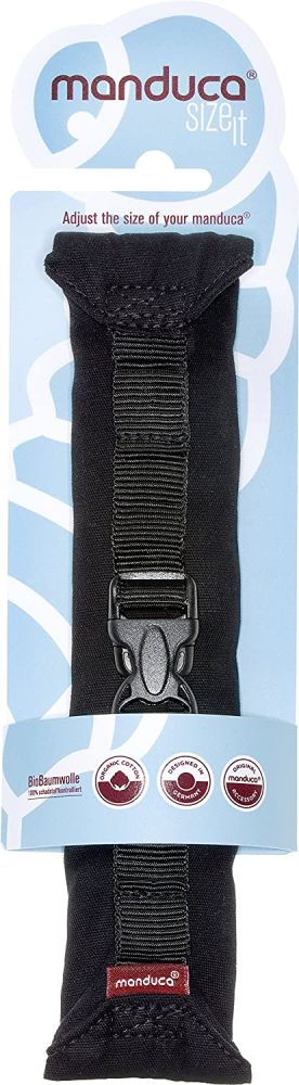 manduca Size-It Stegverkleinerer für manduca Babytrage & andere Komfort-Tragen (als Bauchtrage ab Geburt). Weicher (Ersatz)-Brustgurt für Rückentrage, schwarz Bild 1