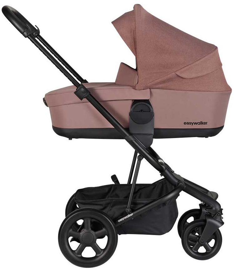 EasyWalker 'Harvey 2' Kombikinderwagen 4 plus in 1 Desert Pink mit Cybex Babyschale Deep Black Bild 1